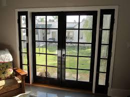 beauty black french doors with sidelights adeltmechanical door