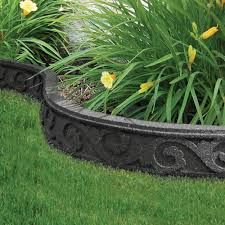 garden edger. 3 1/2-inch X 48-inch Flexi-Curve Scroll Grey Edger Garden T