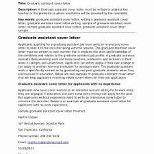 Teacher Assistant Cover Letter Samples Sample Resume For Teacher Assistant With No Experience New 12 13