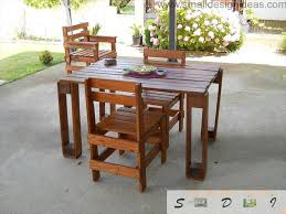 pallet stores furniture. Indoor Outdoor Universal Pallet Furniture Ideas. Table And Set Of Chairs Outside The House For Stores L