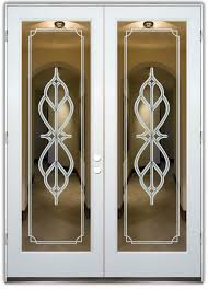 frosted glass front doors vintage