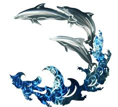3d dolphin wave metal wall art image 1 on dolphin wall art metal with 3d dolphin wave metal wall art