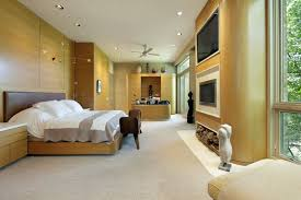 office bedrooms. A Long Bedroom With Large Windows To The Right, And Bed Left Office Bedrooms