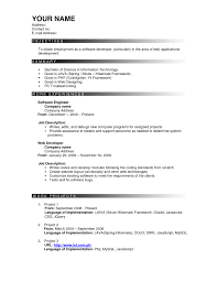 Resume Template Format Professional Easy Writing Sample For Free