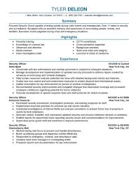 Security Officer Resume Objective Elegant Casi Security Guardsume