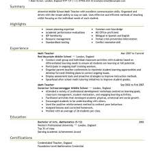 Teacher Resume Template Word Teacher Resume Template Free Best Example Livecareer Within 53