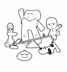 Small Picture Pocoyo y sus amigos 1 Dibujo de Pocoyo para imprimir