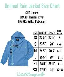 Charles River Rain Jacket Size Chart Monogrammed Unlined Lightweight Pullover Rain Jacket In 2019