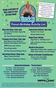 Fionas First Birthday Party Cincinnati Zoo Botanical Garden