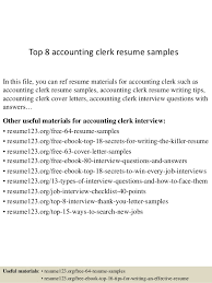 top 8 accounting clerk resume samples in this file you can ref resume materials for accounting clerk resume samples