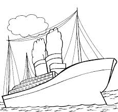 Cruise Ship Coloring Page