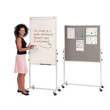 Whiteboard Flip Chart Mobile Flip Chart Combination Unit With Whiteboard And Felt Noticeboard Combi Noticeboard 1200x700mm