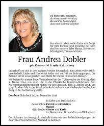 Andrea Dobler Danksagung Vn Todesanzeigen
