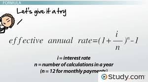 Effective Annual Rate Formula Calculations