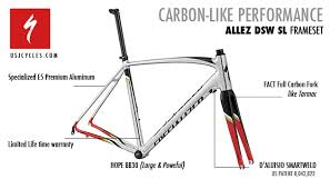 Specialized Allez Geometry Chart Custom Build Specialized Allez Dsw Sl Frameset Usj Cycles