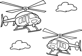 Small Picture Two Helicopter Coloring Page Wecoloringpage
