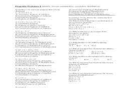 Properties Of Multiplication Worksheets Printable Distributive ...