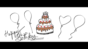 Easy Kids Drawing Lessons How To Draw A Cartoon Birthday Cake