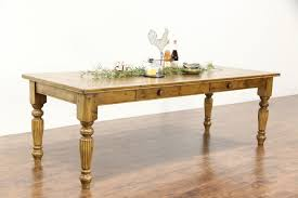 country pine farmhouse vintage ' harvest dining table two