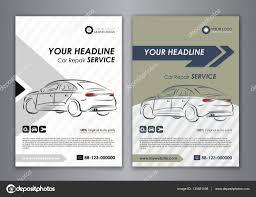 A5 A4 Set Car Repair Service Business Card Templates Auto Repair