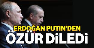 erdoğan putin özür diledi ile ilgili görsel sonucu
