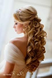 Wedding Hair Half Up With Tiara And Veil