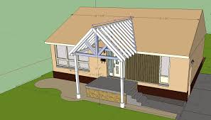 building gable porch cover tying existing roof to choose