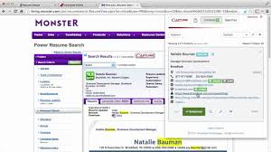 Monster Resume Search Capture resumes from monster YouTube 1