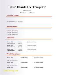 Blank Resume Form Download New Resume Format Blank Vintage Blank