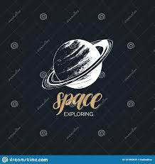 Science Poster Background Space Exploration Handwritten Phrase Drawn Vector