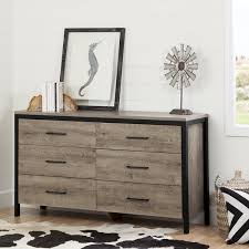 South Shore Munich Oak Laminate 6 drawer Double Dresser Free