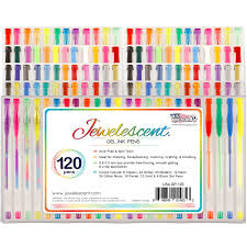 Free Ink Pens Amazoncom Us Art Supply Jewelescent 120 Gel Pen Set