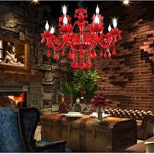 red crystal chandelier led indoor lighting bedroom lamparas de cristal res de teto luminaire chandeliers for dining lights 11street malaysia