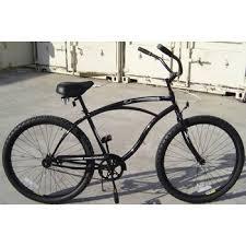 micargi touch 26 men s classic beach cruiser bike matte black