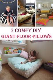 decorating with floor pillows. 7 DIY Giant Floor Pillows Decorating With