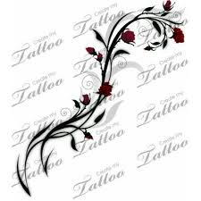 rose vine tattoo designs.  Rose Small Rose Vine Tattoo On Rose Vine Tattoo Designs