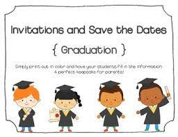Blank Save The Date Cards Kindergarten Graduation Invitations And Save The Dates Blank By