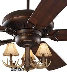 60 3 light antler ceiling fan