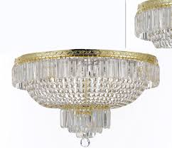 to enlarge french empire crystal semi flush basket chandelier chandeliers lighting