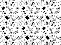 Football Pattern Custom Football Lineart Pattern By Alba Studio Dribbble