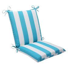 pillow chair. pillow perfect™ cabana stripe outdoor squared edge chair cushion - blue p