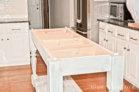 Build Your Own DIY Kitchen Island Tutorial Free Building Plans