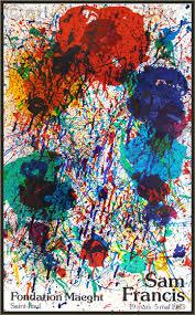 sam francis fondation maeght 1983 original lithograph exhibition poster genuine arte
