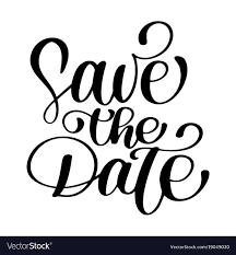 Save The Date Text Calligraphy Lettering Vector 19049030 The
