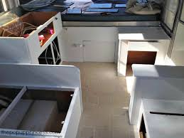 painting pop up camper cabinetry