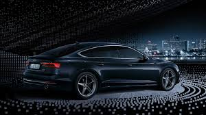 black audi. allnew audi s5 sportback side black