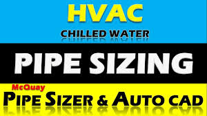 Chilled Water Pipe Designing Design Calculation Pipe Sizer Autocad