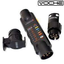 voche 12v 7 pin trailer lights plug socket wiring circuit tester plus 13 pin adaptors co uk car motorbike