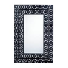 decorative wall mirrors moroccan style frame black wall mirror for bathroom