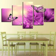 framed 5 piece beautiful purple flowers butterflies canvas wall art sets it make your day on canvas wall art purple flowers with framed 5 piece beautiful purple flowers butterflies canvas wall art